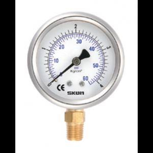 Đồng hồ đo áp suất skon chân đồng